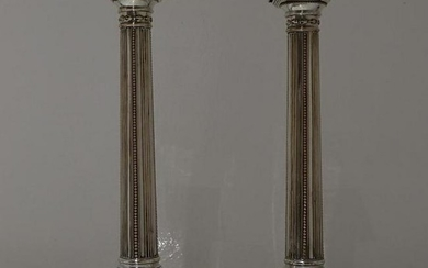 18th Century Antique Pair of Old Sheffield Candlesticks