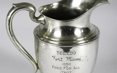 1950 TOLEDO FORT MIAMI STERLING SILVER PITCHER