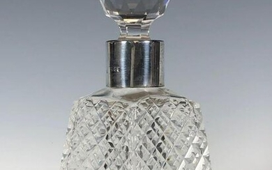 19th. Century Crystal and Sterling Silver Scent Bottle