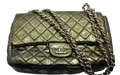 2008 Chanel Classic Jumbo Quilted Patent Leather Rare