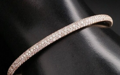 2.28ct Natural Fancy Mix Pink Diamonds - 14 kt. Pink gold - Bangle - ***No Reserve Price***