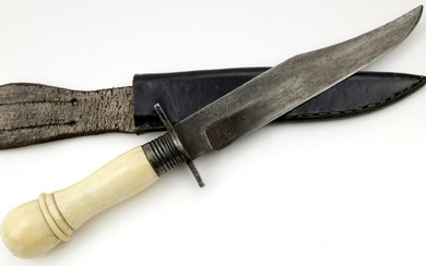 A Rare 19th C. English / American Gambler's Bowie Knife
