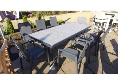 A Bramblecrest Seville dining table 210cm x 96cm - with eigh...