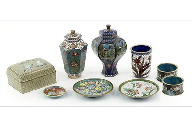 A Collection of Chinese Cloisonne.