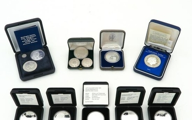 A Diverse Collection of Silver Coins and Medals