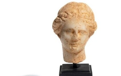 A Greek Marble Head of Aphrodite Height 3 1/2 inches.