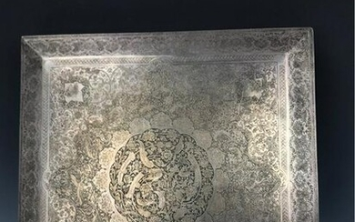 A LARGE PERSIAN STERLING SILVER BOX