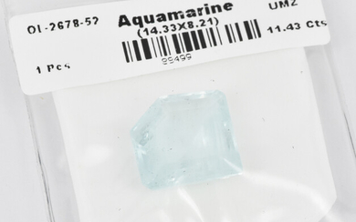 A LOOSE AQUAMARINE