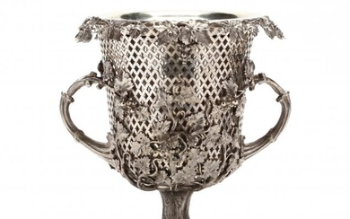 A Very Good Victorian Silverplate Wine Cooler