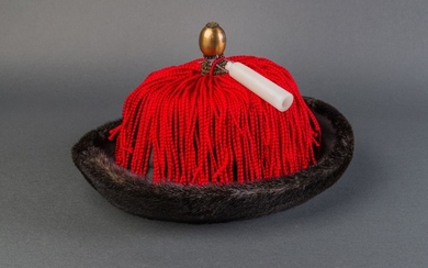 A Winter Hat Belonged to the Manchu aristocrat, Qing Dynasty.
