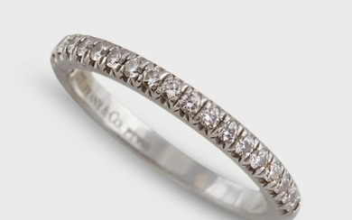 A diamond and platinum band ring, Tiffany & Co.
