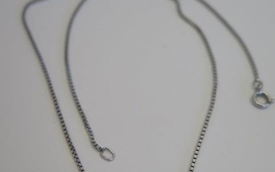 A diamond insect necklace in white metal, possibly white gol...