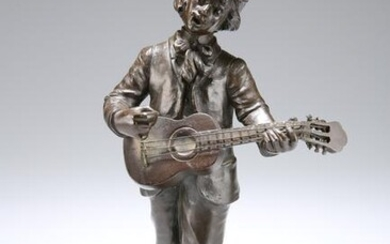 AFTER D. ALONZO, A PATINATED BRONZE FIGURE OF A STREET