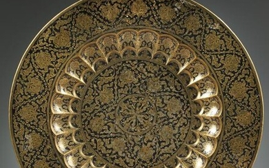 AN INDIAN BRASS WALL HANGING CHARGER, INDIA, 20TH