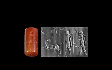 Aegypto-Phoenician Cylinder Seal with Procession of