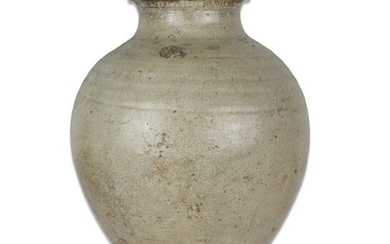 Ancient Chinese, Tang Dynasty Pottery LARGE Ovoid glazed jar - 285×220×0 mm - (1)
