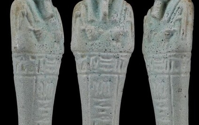"Ancient Egyptian Faience Shabti for priest of the goddess Smentet, ""PA-DI-USIR"" - (1)"