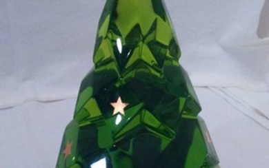 BACCARAT - Ornament, Green Christmas tree. (1) - Crystal