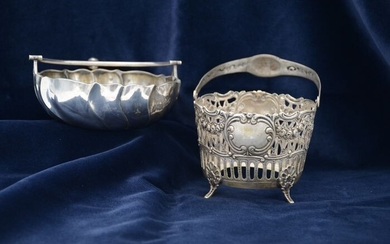 Bowl (2) - .800 silver - Germany - Early 20th century