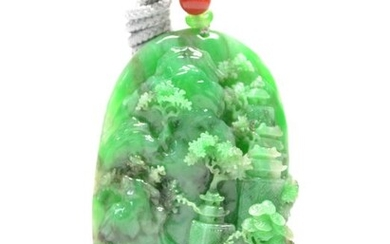 Carving - Natural Jadeite (Type A) - Certified - China - 21st century