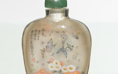 Chinese Inside-Painted Snuff Bottle, Zhang Tieshan