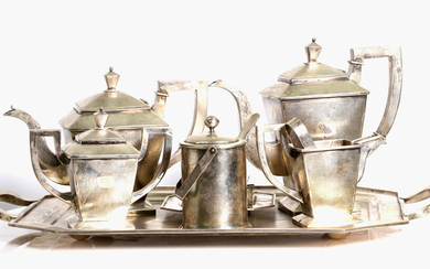 Chinese export silver coffee and tea set , Republic period