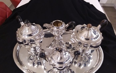 Coffee and tea service - .800 silver - Italy - Early 20th century