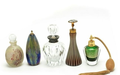 Collection of Six Studio Art, Art Glass, and Cut Glass
