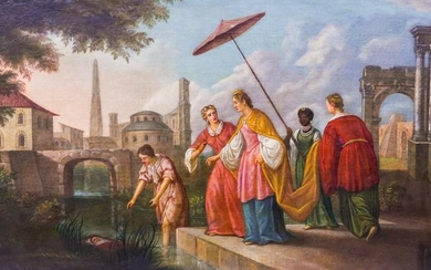 Continental School 18th/19th Cent. ''Finding of Moses''