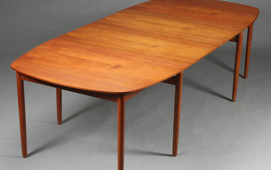 Danish furniture producer. Large dining table / conference table, teak wood