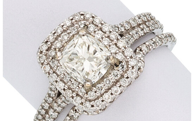 Diamond, White Gold Ring Set The ring features a...