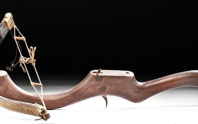 Early 20th C. Vintage American Wood Crossbow