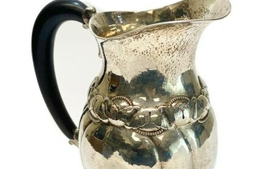 Evald Nielsen Sterling Silver Hand Wrought Pitcher