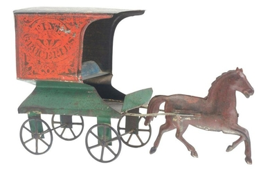FALLOWS TIN FINE GROCERIES WAGON.