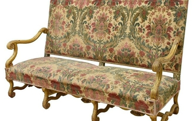 FINE FRENCH LOUIS XIV STYLE GILTWOOD SOFA SETTEE