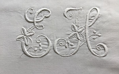 FRENCH VICTORIAN PILLOW CASES (2) - Cotton - Late 19th century