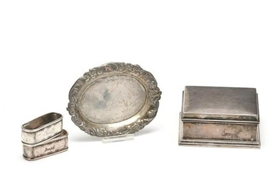 Four Sterling Silver Items