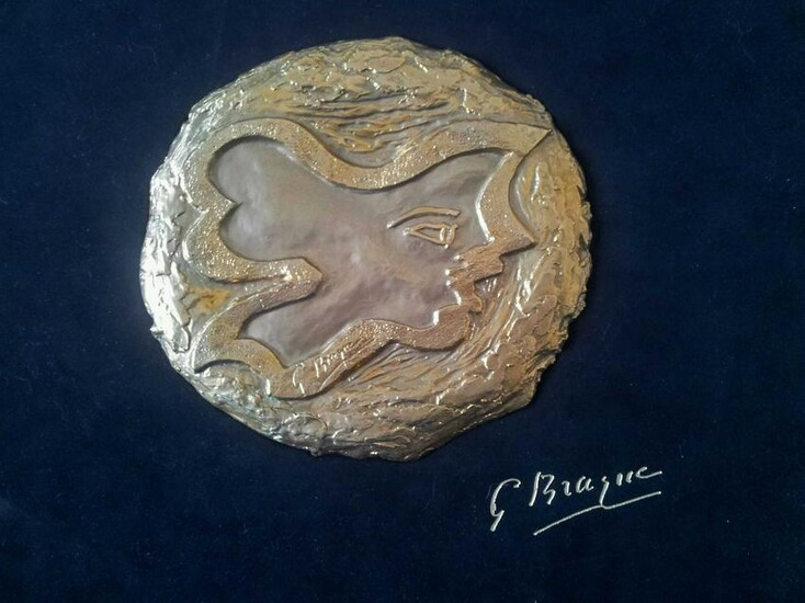 GEORGES BRAQUE Album with 12 Lithographs and Gold