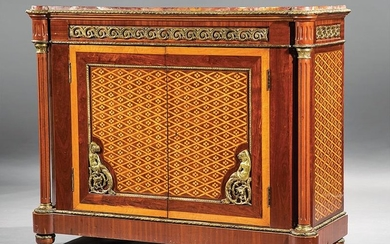 Gilt Bronze-Mounted Marquetry Cabinet