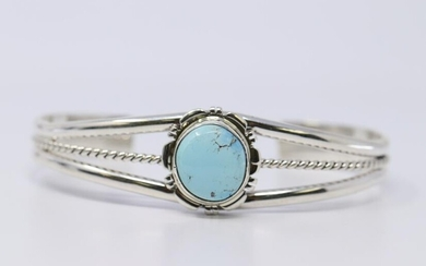 Golden Hills Turquoise Bracelet with Sterling Silver by