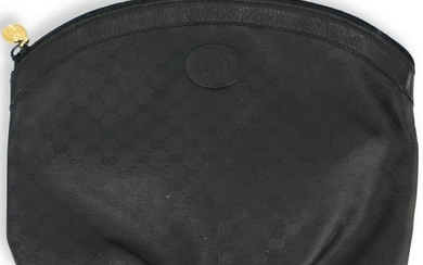 Gucci Monogram Leather Cosmetic Bag