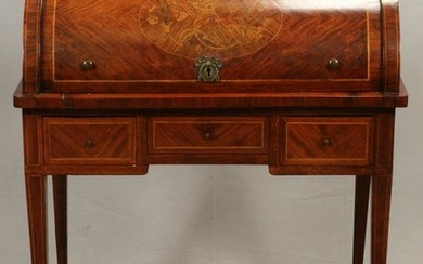 HEPPLEWHITE, ROSEWOOD AND MARQUETRY DESK