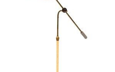 ITALIAN MANUFACTURE - Floor lamp in gilded and red