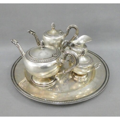 Italian silver tea and coffee service, stamped 800, comprisi...