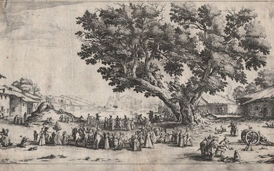 Jacques Callot ( 1592-1632 ) - La foire de Gondreville - Early state