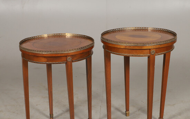 LAMP TABLE, 1 pair, mahogany with bronzes, Gustavian style, 1900s.