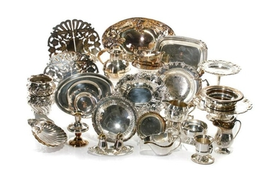 LARGE COLLECTION OF SILVERPLATE TABLEWARE