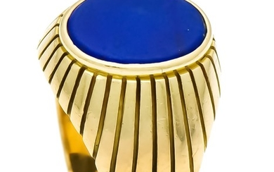 Lapis lazuli ring GG 750/000 with an oval...