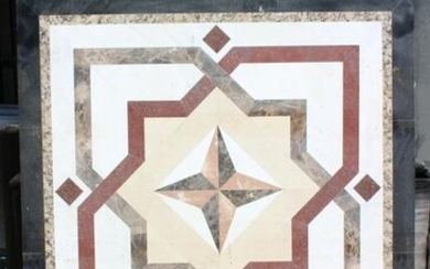 Large Scale Architectural Inlaid Marble Applique