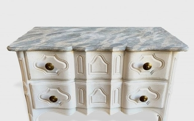 Louis XV Style Painted Commode, Baker